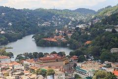 Μια άποψη άνωθεν της πόλης Kandy Σρι Λάνκα Στοκ φωτογραφία με δικαίωμα ελεύθερης χρήσης