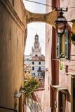 Μια άποψη από την παλαιά πόλη Sanremo Στοκ εικόνα με δικαίωμα ελεύθερης χρήσης