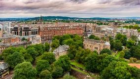 Μια άποψη από το Εδιμβούργο Castle του Εδιμβούργου - της Σκωτίας στοκ εικόνα με δικαίωμα ελεύθερης χρήσης