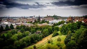 Μια άποψη από το Εδιμβούργο Castle του Εδιμβούργου - της Σκωτίας στοκ εικόνα