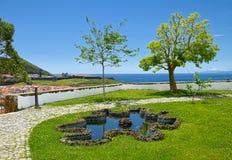 Μια άποψη από το πάρκο, Angra, Terceira, Αζόρες Στοκ Εικόνες