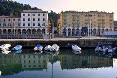 Μια άποψη από το archi της Ανκόνα quartiere, Marche, Ιταλία Στοκ φωτογραφία με δικαίωμα ελεύθερης χρήσης