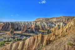 Μια άποψη και ένα τοπίο cappadocia Στοκ φωτογραφία με δικαίωμα ελεύθερης χρήσης