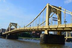 Μια άποψη κεντρικός από τη γέφυρα του Andy Warhol Στοκ φωτογραφία με δικαίωμα ελεύθερης χρήσης