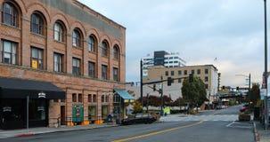 Μια άποψη οδών στο Everett, Ουάσιγκτον στοκ εικόνες με δικαίωμα ελεύθερης χρήσης