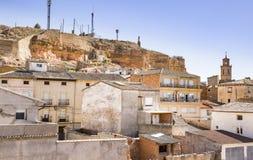 Μια άποψη πέρα από Ariza την πόλη, επαρχία Σαραγόσα, Ισπανία Στοκ εικόνα με δικαίωμα ελεύθερης χρήσης