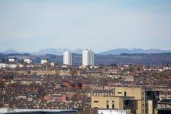 Μια άποψη στεγών πέρα από την κεντρική Γλασκώβη, Σκωτία, UK στοκ εικόνα