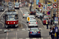 Κυκλοφορία στο Μπρνο Στοκ φωτογραφίες με δικαίωμα ελεύθερης χρήσης