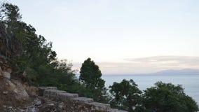 Μια άποψη σχετικά με τον όμορφο κόλπο με τα βουνά Στοκ Εικόνα