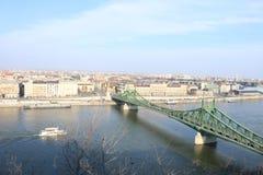 Μια άποψη της Βουδαπέστης από τον καθεδρικό ναό Στοκ φωτογραφία με δικαίωμα ελεύθερης χρήσης