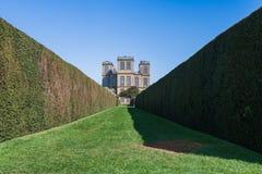 Μια άποψη της διάσημης αίθουσας Hardwick από τη ζάλη καλλιεργεί Λήφθείτε την πρώιμη άνοιξη του 2019 στοκ εικόνες
