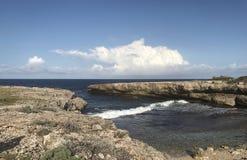 Μια άποψη της θάλασσας στο Κουρασάο Στοκ Φωτογραφία