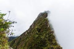 Μια άποψη της κορυφής του βουνού Huayna Picchu Στοκ φωτογραφία με δικαίωμα ελεύθερης χρήσης