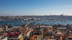 Μια άποψη της Κωνσταντινούπολης από τον πύργο galata Στοκ φωτογραφίες με δικαίωμα ελεύθερης χρήσης