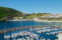 Μια άποψη της μαρίνας, Angra, Terceira, Αζόρες Στοκ εικόνα με δικαίωμα ελεύθερης χρήσης