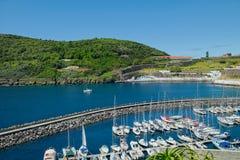 Μια άποψη της μαρίνας, Angra, Terceira, Αζόρες Στοκ Εικόνα
