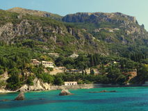 Μια άποψη της παραλίας, Ελλάδα Στοκ Εικόνες