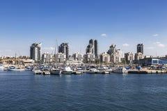 Μια άποψη της πόλης Ashdod από τη Μεσόγειο Στοκ εικόνες με δικαίωμα ελεύθερης χρήσης