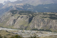 Μια άποψη της EL Chalten1 στοκ φωτογραφία με δικαίωμα ελεύθερης χρήσης