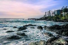 Μια άποψη του Ειρηνικού Ωκεανού σε Ucluelet στοκ φωτογραφία