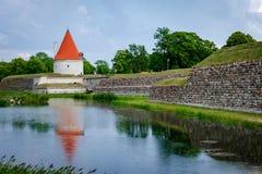 Μια άποψη του κάστρου Kuressaare, νησί Saaremaa, Εσθονία στοκ φωτογραφία