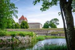 Μια άποψη του κάστρου Kuressaare, Saaremaa, Εσθονία Στοκ Εικόνα