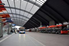 Μια άποψη του καλυμμένου κεντρικού σταθμού Άμστερνταμ στοκ εικόνες με δικαίωμα ελεύθερης χρήσης