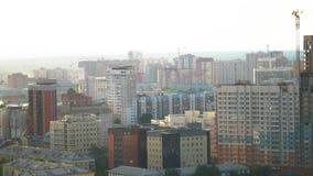 Μια άποψη του κτηρίου από την κορυφή Εναέρια άποψη του ορίζοντα Κτήρια πόλεων, υπερυψωμένος εναέριος πυροβολισμός απόθεμα βίντεο