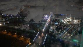 Μια άποψη του μουσουλμανικού τεμένους Akhmad Kadyrov, η πόλη του Γκρόζνυ, η πρωτεύουσα της τσετσένιας Δημοκρατίας του Ρώσου φιλμ μικρού μήκους
