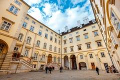 Μια άποψη του προαυλίου του παλατιού Hofburg στη Βιέννη, Αυστρία Στοκ Εικόνα