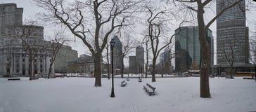 Μια άποψη του στο κέντρο της πόλης Μόντρεαλ το χειμώνα στοκ φωτογραφία