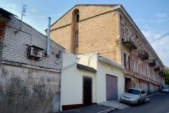 Μια άποψη των χαρακτηριστικών απομακρυσμένων παλαιών οδών Kherson στοκ φωτογραφία με δικαίωμα ελεύθερης χρήσης