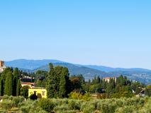Μια άποψη των Tuscan λόφων στοκ εικόνα