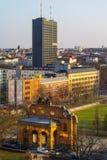 Μια άποψη s-ματιών πουλιών ` των κατοικημένων περιοχών στο κέντρο του Βερολίνου Στοκ Εικόνες