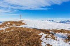 Μια άποψη wintertime από την ΑΜ Fronalpstock στην Ελβετία Στοκ φωτογραφίες με δικαίωμα ελεύθερης χρήσης