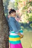 Μια έγκυος γυναίκα Στοκ εικόνα με δικαίωμα ελεύθερης χρήσης