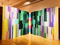 Μια έκθεση τέχνης μέσα στο μουσείο της Νέας Βρετανίας της αμερικανικής τέχνης στοκ εικόνες με δικαίωμα ελεύθερης χρήσης
