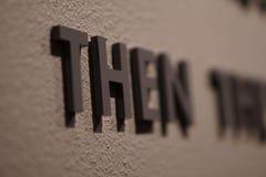 Μια λέξη στην εστίαση σε έναν τοίχο Στοκ φωτογραφίες με δικαίωμα ελεύθερης χρήσης