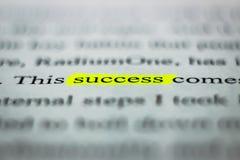 Μια λέξη ` succsess ` Στοκ Φωτογραφία