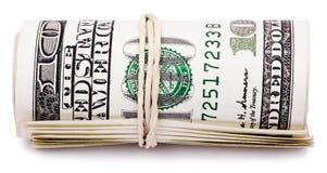 Ρόλος 100 US$ Bill Στοκ Εικόνες