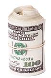 Ρόλος 100 US$ Bill Στοκ εικόνες με δικαίωμα ελεύθερης χρήσης