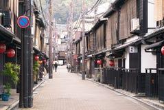Μια ήρεμη οδός στο Κιότο, Ιαπωνία Στοκ Εικόνες