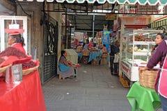Μια αγορά τροφίμων σε Oaxaca, Μεξικό, η μαγειρική πρωτεύουσα του Μεξικού Στοκ Εικόνες
