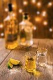 Μια ακίνητη ζωή δύο πυροβολισμών του tequila Στοκ εικόνα με δικαίωμα ελεύθερης χρήσης