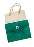 Ανακυκλώστε την τσάντα εγγράφου Στοκ φωτογραφία με δικαίωμα ελεύθερης χρήσης