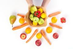 Μια ανθοδέσμη των λαχανικών και των φρούτων Στοκ φωτογραφίες με δικαίωμα ελεύθερης χρήσης