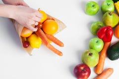 Μια ανθοδέσμη των φρούτων και λαχανικών Στοκ εικόνα με δικαίωμα ελεύθερης χρήσης