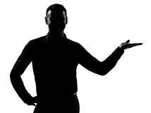 Μια ανοικτή σκιαγραφία χεριών επιχειρησιακών ατόμων Στοκ φωτογραφία με δικαίωμα ελεύθερης χρήσης