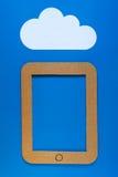 Μια απεικόνιση έννοιας της αποθήκευσης σύννεφων Στοκ Εικόνα