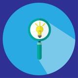 Μια απεικόνιση είναι ένας βήχας, ένα φως πιό magnifier στον μπλε κύκλο Μπορέστε να χρησιμοποιηθείτε στους διάφορους στόχους Στοκ φωτογραφία με δικαίωμα ελεύθερης χρήσης